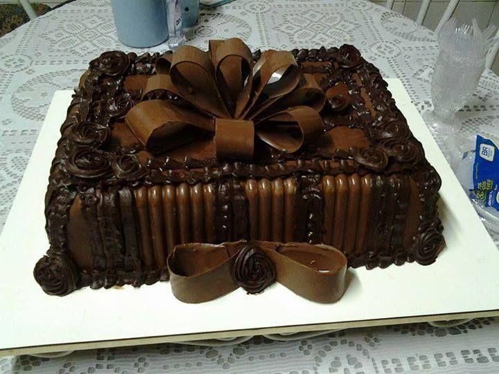 bolo com laço