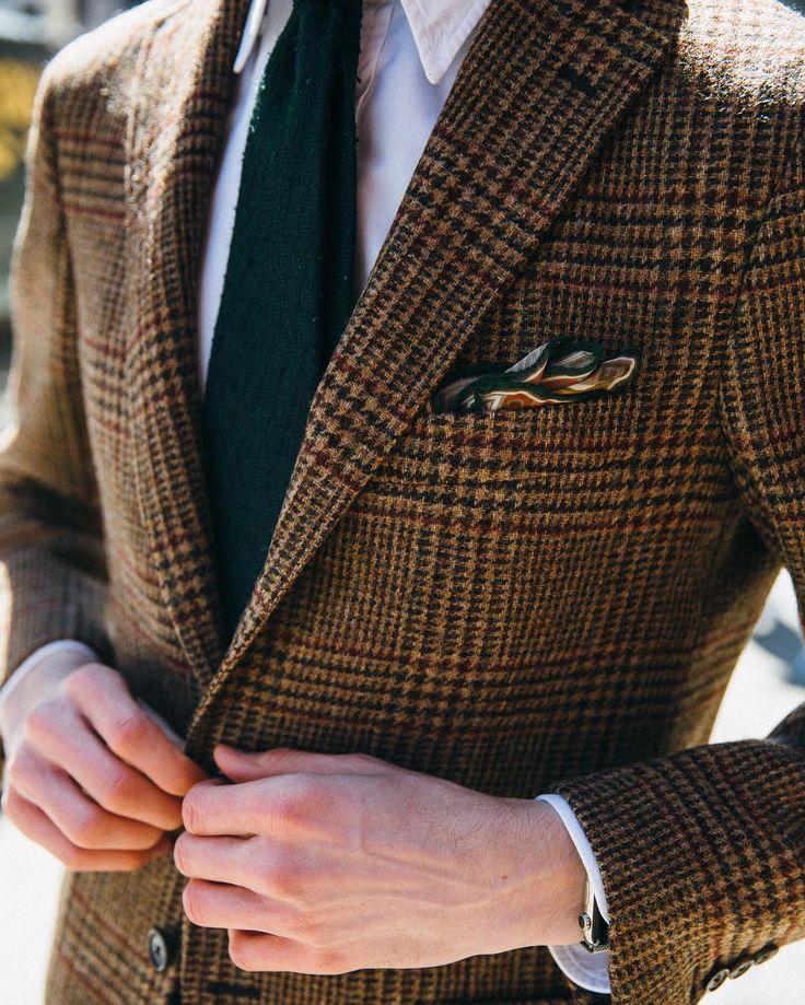 Glen Check, Oxford Button-Down & Shantung. @fecastleberry #drakes