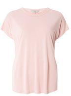 Womens Petite Pink Ovoid T-Shirt- Pink