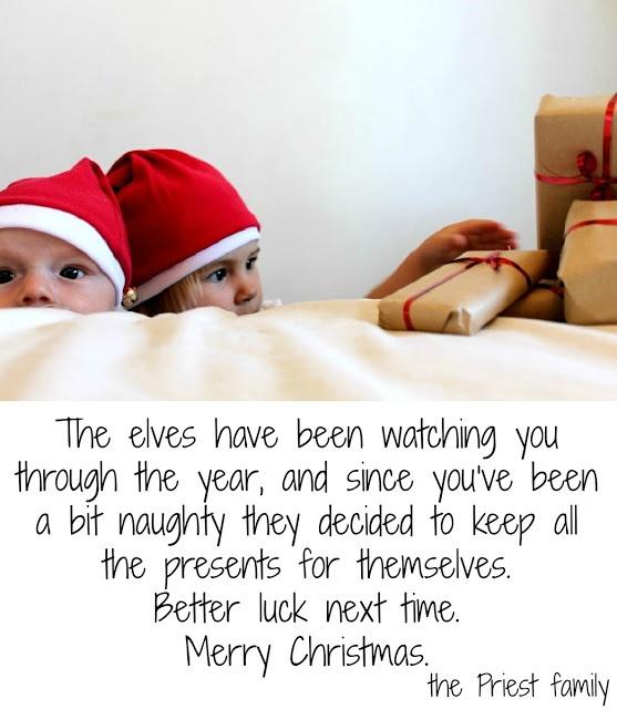 Cheeky christmas card idea