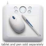 Wacom Technology Services Corp. Wacom Bamboo Fun Mouse - White EC155W $37.95
