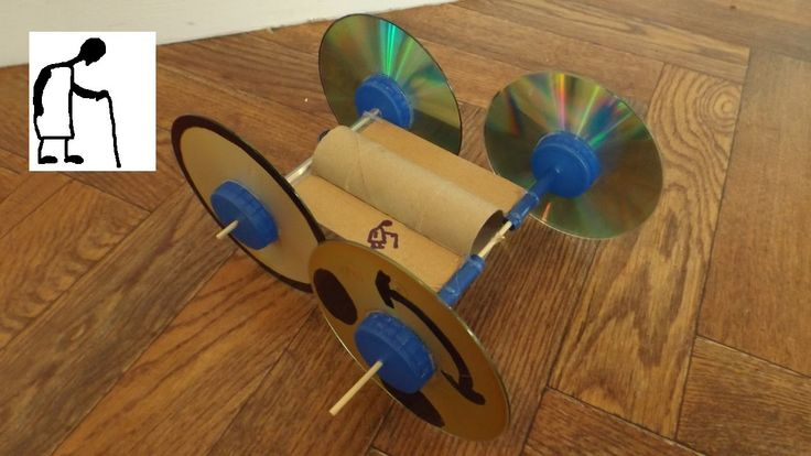 Toilet Paper Roll Rubber Band Powered Car