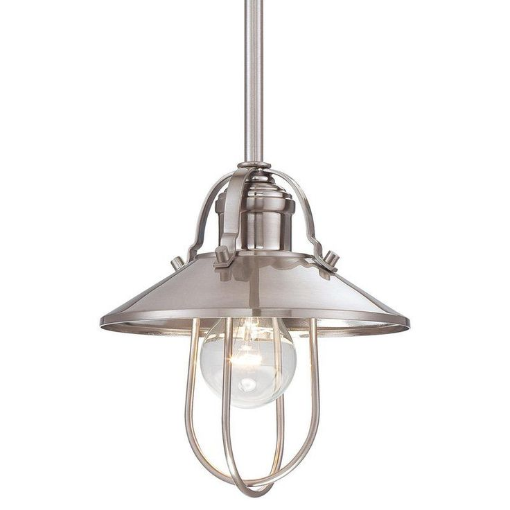 Minka lavery 1 light 8 height indoor mini pendant in brushed nickel grey