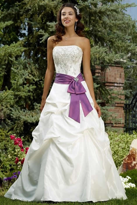 Raylia wedding dresses with colors