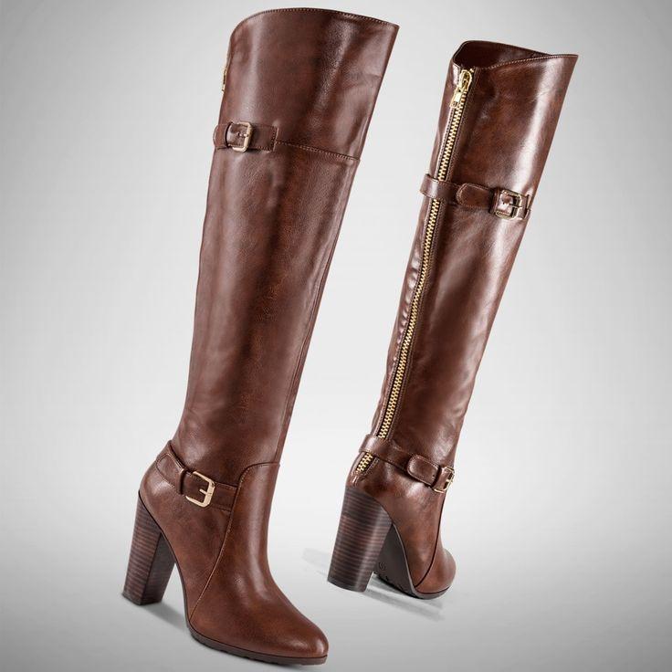 #botas #brandy #tacones #estilo #ecuestre #PriceShoes #Vivelamoda #fashion #winter  De venta en →http://tiendaenlinea.priceshoes.com/