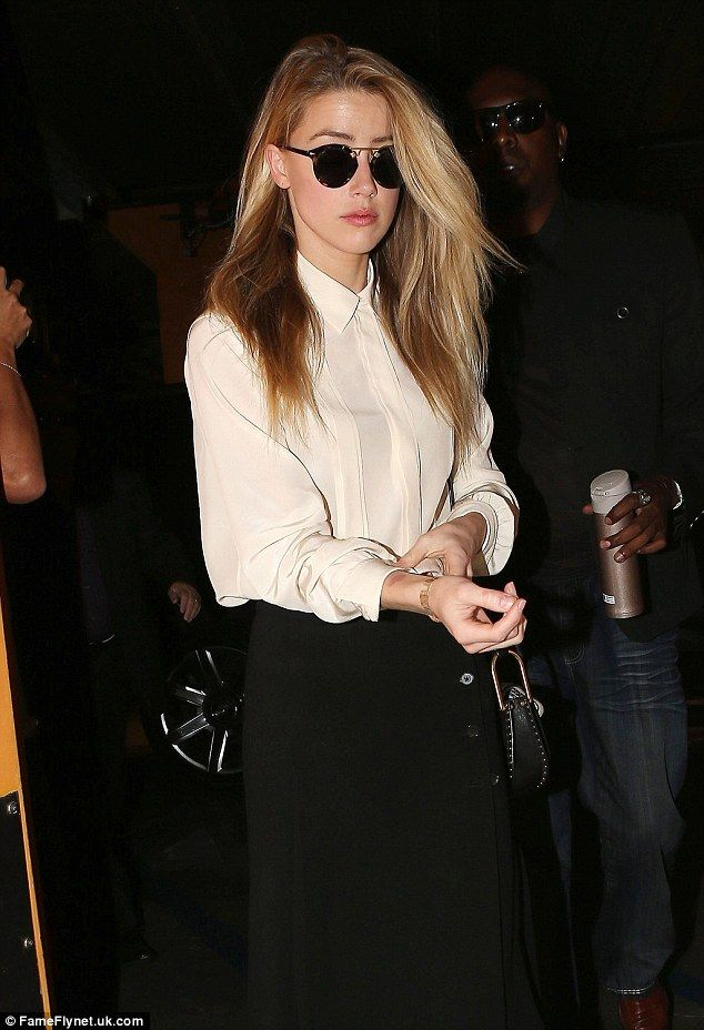 Late arrival: Amber Heard was 90 minutes behind schedule for her deposition in her divorc...
