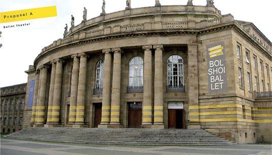 StaatsTheater Stuttgart rendering architettura brand