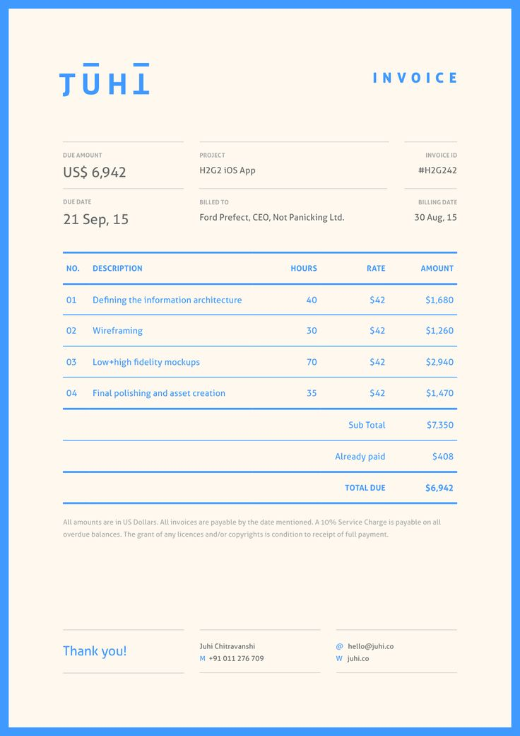 46 best Invoice Design images on Pinterest Graphics, Invoice - graphic design invoice sample