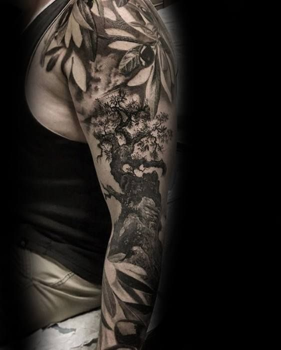 30 Olive Tree Tattoo Designs For Men