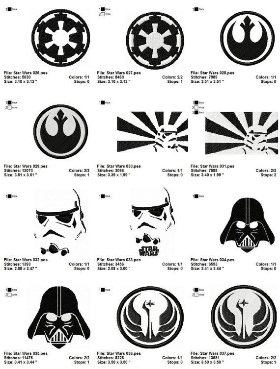 Star Wars Machine Embroidery Designs Image Collections Handicraft