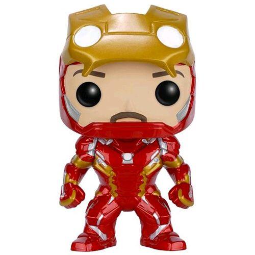 Iron man unmasked. Pop.