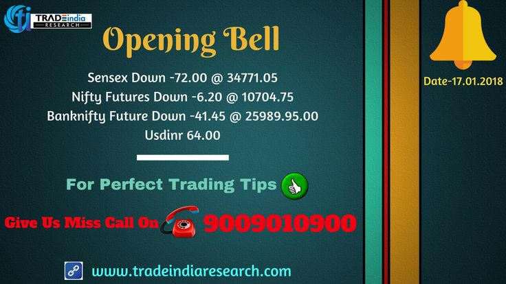Stock Market #Openingbell #Updates #Sensex #Bank #Nifty #equity #Commodity #stocks #market #news currency #Derivative depository, online #trading mutual funds #TradeIndia #Research opening Bell Update - 17th January 2018 By TradeIndia Research