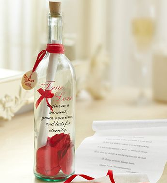 Send a unique Valentines gift and express your love with a romantic message in a bottle! #wow