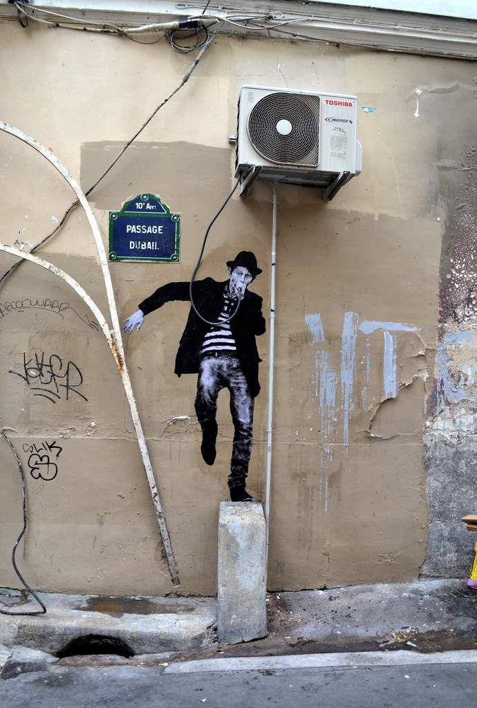 Street artist Charles Leval, aka Levalet.