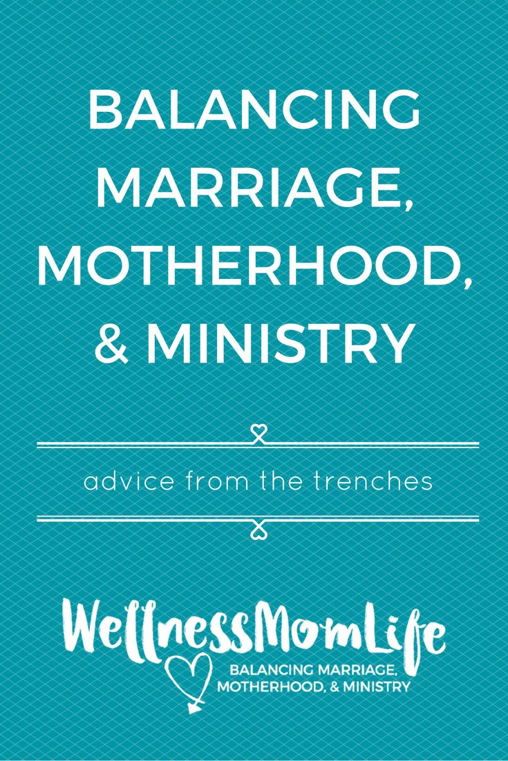 balancing marriage and ministry Home home and family how does a pastor balance family and ministry what you experienced could be a mix in priorities, but could also reveal he is not ready for marriage every woman is different.
