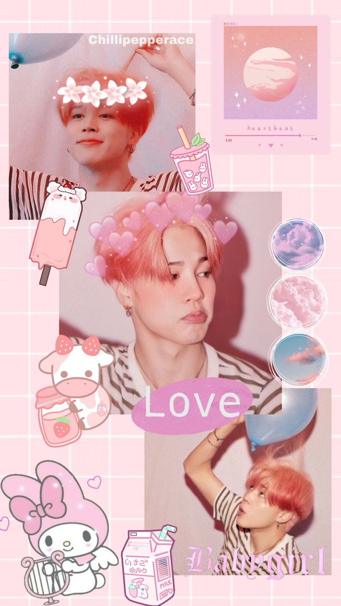 Jin Bts Wallpaper Pink Aesthetic En 2021