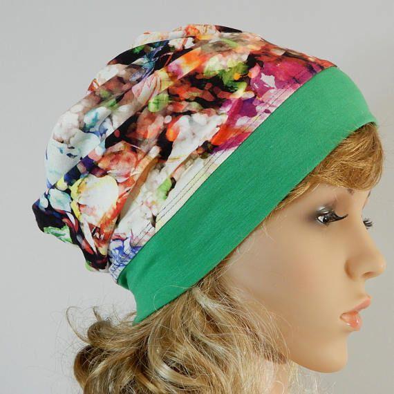 Summer beanie Lightweight hat Women headwear Summer slouchy hat Headcover summer Jersey beanie women Summer tam Beanie stretchy from S-L