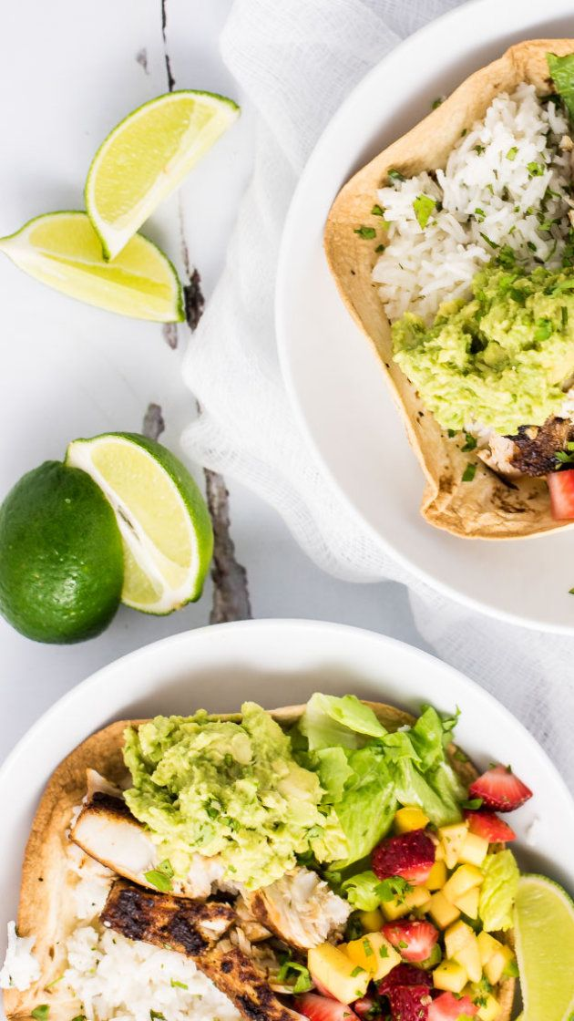 Grilled fish taco burrito bowls via @AOL_Lifestyle Read more: http://www.aol.com/article/2016/06/23/grilled-fish-taco-burrito-bowls/21400237/
