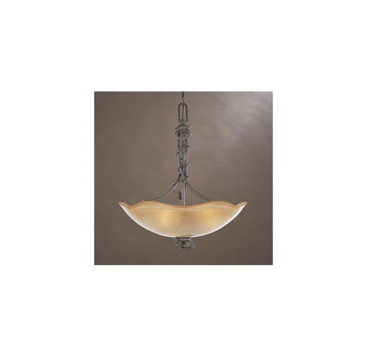 Designers Fountain 95631 Three Light Down Lighting Bowl Pendant from the Timberl Old Bronze Indoor Lighting Pendants