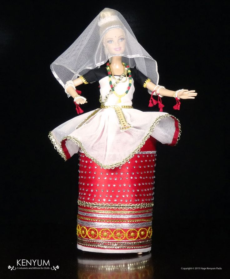 Manipuri dance costume for Barbie dolls