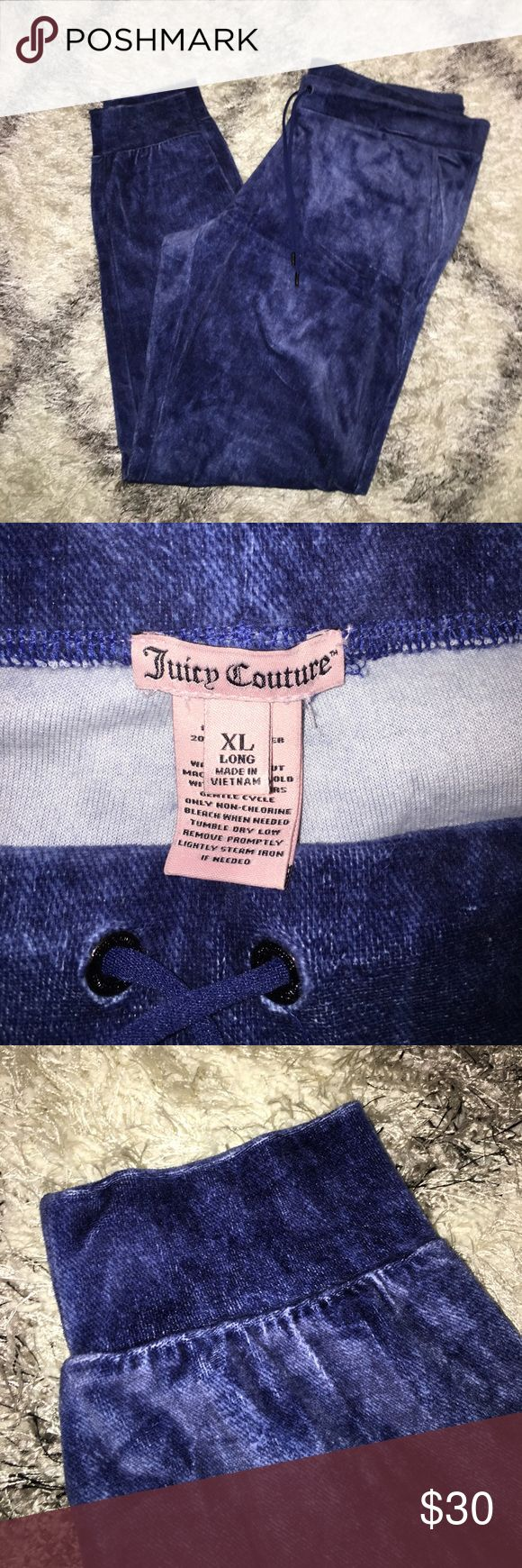 Juicy Couture Velour jumpsuit In like new condition. authentic Juicy Couture jean blue jacket with hood and jogger pants. No holes or stains. Juicy Couture Pants Jumpsuits & Rompers