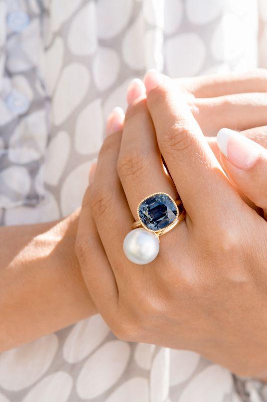 South Sea Pearls & gold / Tourmaline & gold #ateliertorbjorntillander #jewellery #jewelry