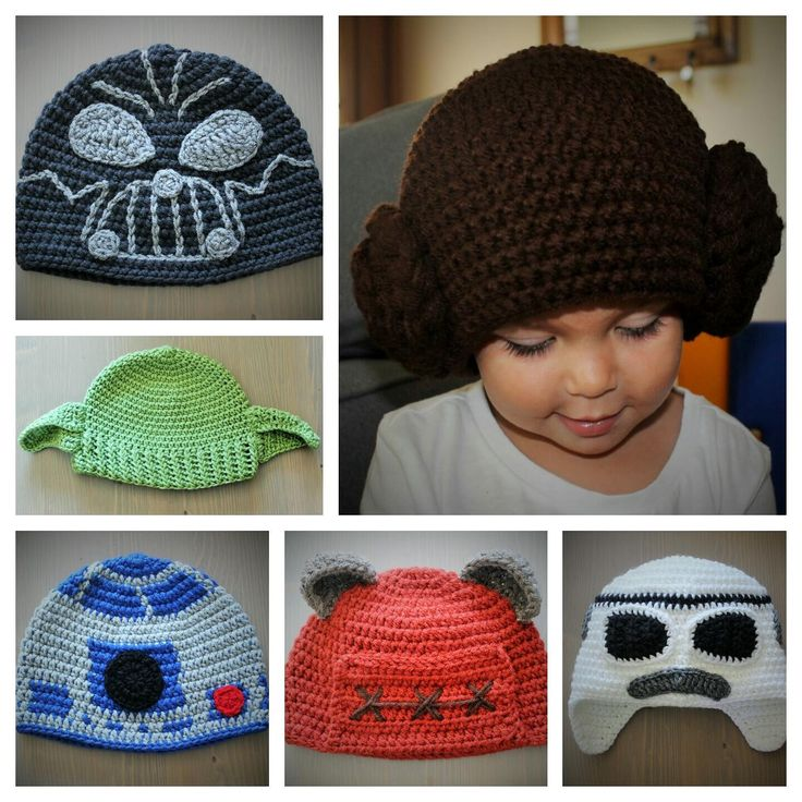 Handmade Star Wars Inspired Crochet Hats - Newborn to Adult by CrochetByDana on Etsy https://www.etsy.com/listing/246152332/handmade-star-wars-inspired-crochet-hats