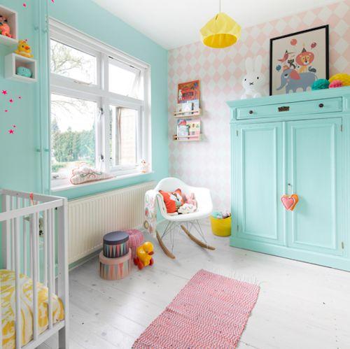 A pretty pastel nursery for boy or girl