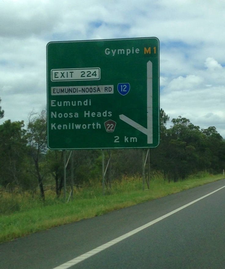 Exit 224 Bruce Highway to Eumundi and Noosa