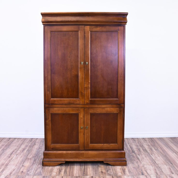 This Traditional Armoire Is Featured In A Solid Wood With