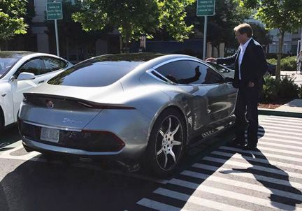 """#AutoNews   Fisker due to reveal its 400-mi range #ElectricCar in August, but top gun Henrik Fisker couldn't wait to reveal, showing off his new """"EMotion"""" machine in San Fran. Original company bankrupted in 2013, but whatever drives Mr. Fisker–money, passion, entrepreneurship, technology, advancement, or a combo of all–put him back in the game with his revival announcement in October last year. EMotion – fitted with #SelfDriving hardware - is targeted for delivery in 2019 for a cool…"""