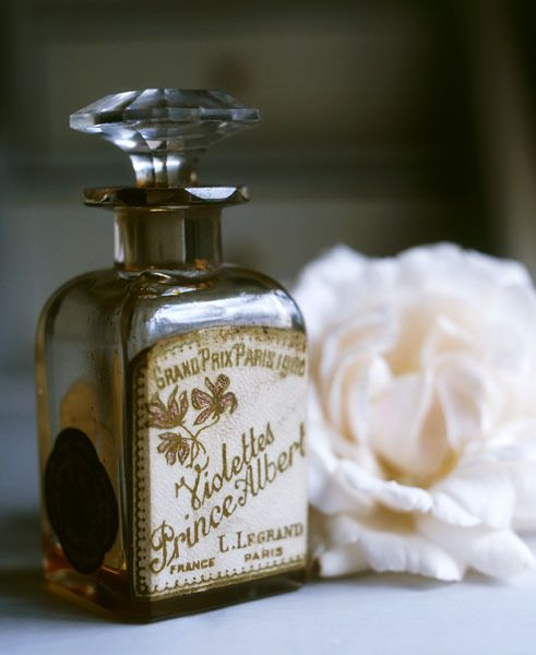 Parfum sprayed before getting ready to feel romantic and beautiful