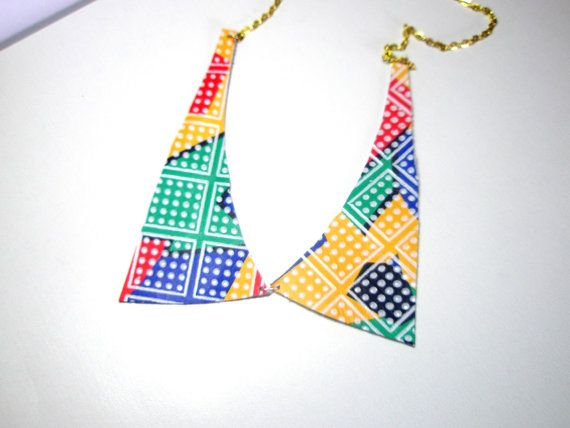 necklace bib in mint bright yellow pink blue lavender and orange ...