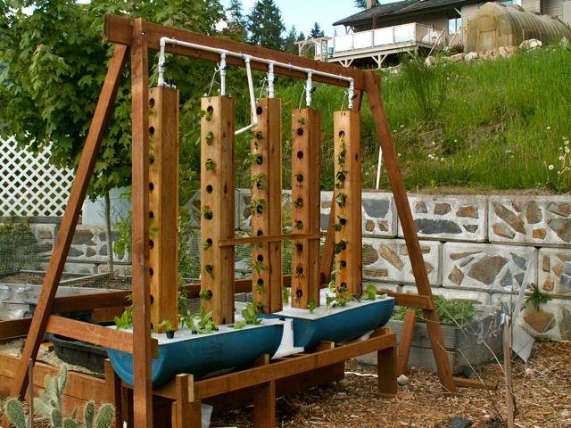 beautiful aquaponics system design.