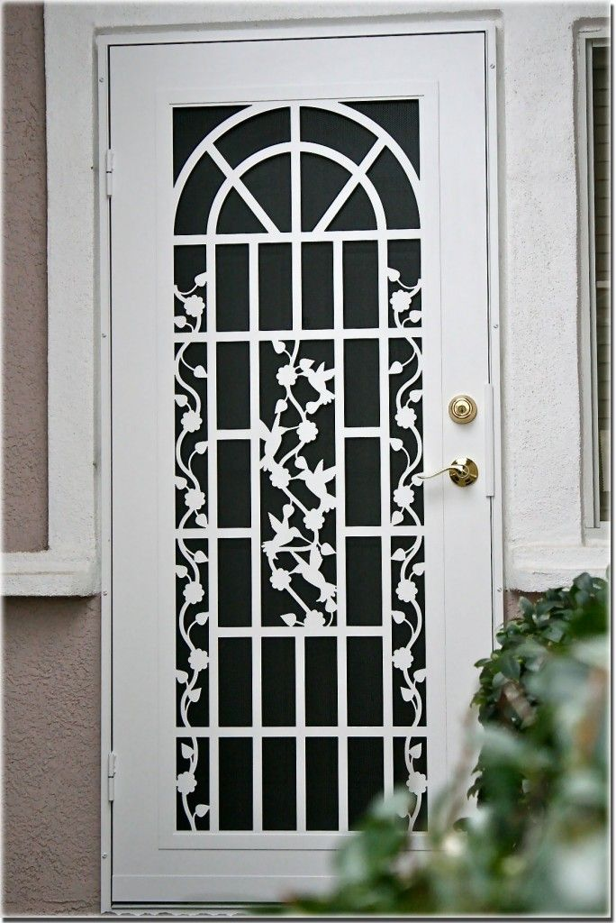 Atozscreens Sacramentoca Titanwhitedoor Security Door Design Security Door Security Screen Door