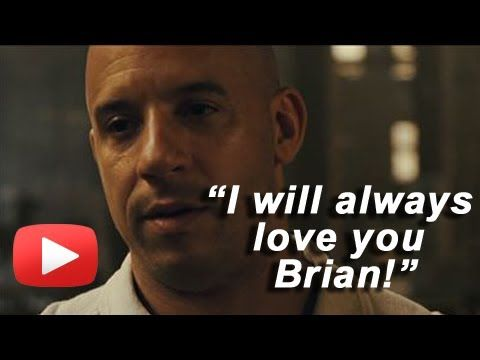"pics of paul walker will be loved | Vin Diesel Talks Paul Walker ""I Will Always Love You Brian"" - YouTube"