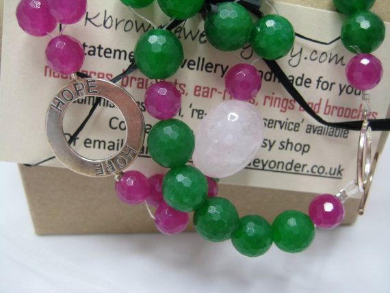 Hope Pendant Gemstone Necklace Gemstone by KBrownJewellery on Etsy, £52.00
