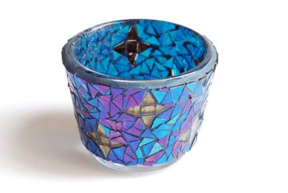 Starry sky  Mosaic candle holder by Trencadis on Etsy, $23.00: Handmade Life, Mis Mosaico, Starry Sky, Candle Holders, Candles Holders, Mosaics Candles, Buy Handmade, Sky Mosaics, Starry Skies