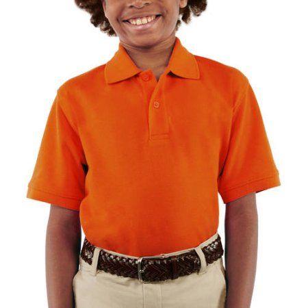 George Boys School Uniforms Short Sleeve Pique Polo Shirt, Size: L (10/12), Beige
