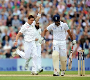 Dale Steyn had Ravi Bopara caught behind for a duck, England v South Africa, 1st Investec Test, The Oval,  2nd day, July 20, 2012