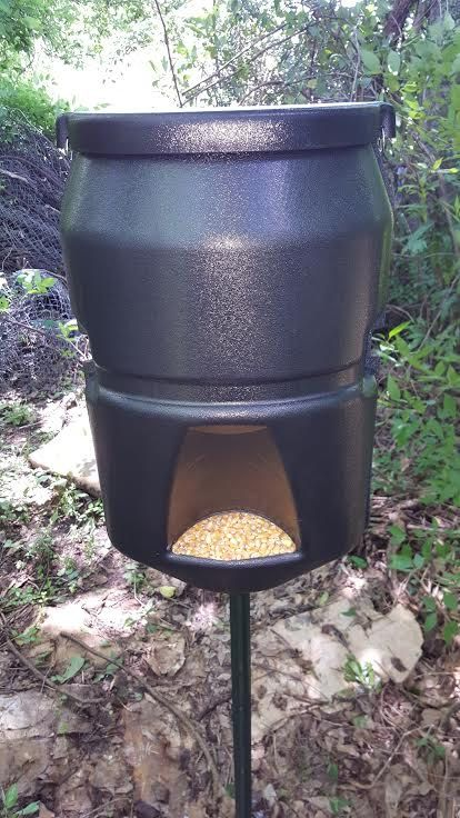 Deer Pig Out Gravity Feeder Keeps The Hogs Out Also by DiversiFab
