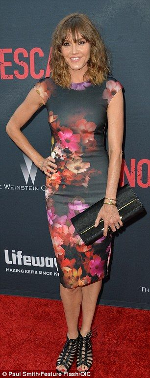 In bloom: Bell's Children's Hospital co-star Erinn Hayes chose a flowered frock while Dayt...