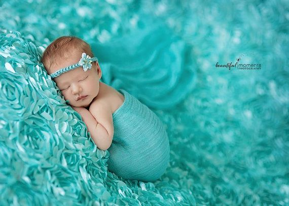 Cheesecloth, SUPER Size Turquoise Cheesecloth Wrap, Baby Wrap, Newborn Photo Prop, Cheesecloth Newborn Wrap, Newborn COCOON Wrap