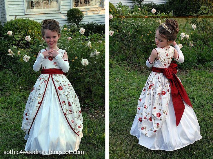 midevil weddings   Gothic Wedding Gowns and Victorian Flower Girl Dresses   Handmade ...