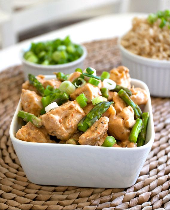 Chicken with Peanut-Lime Coconut Sauce -- Good! I loved cooking with coconut oil. Maybe I should have sauteed chicken in a non-stick, it took a while for the chicken to cook and i did cut it into thin slices.. regardles it was good! I would cut back to 1.5 tbsp of soy.