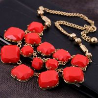 Multi-Layered Pendant Alloy Necklac - Thumbnail 2