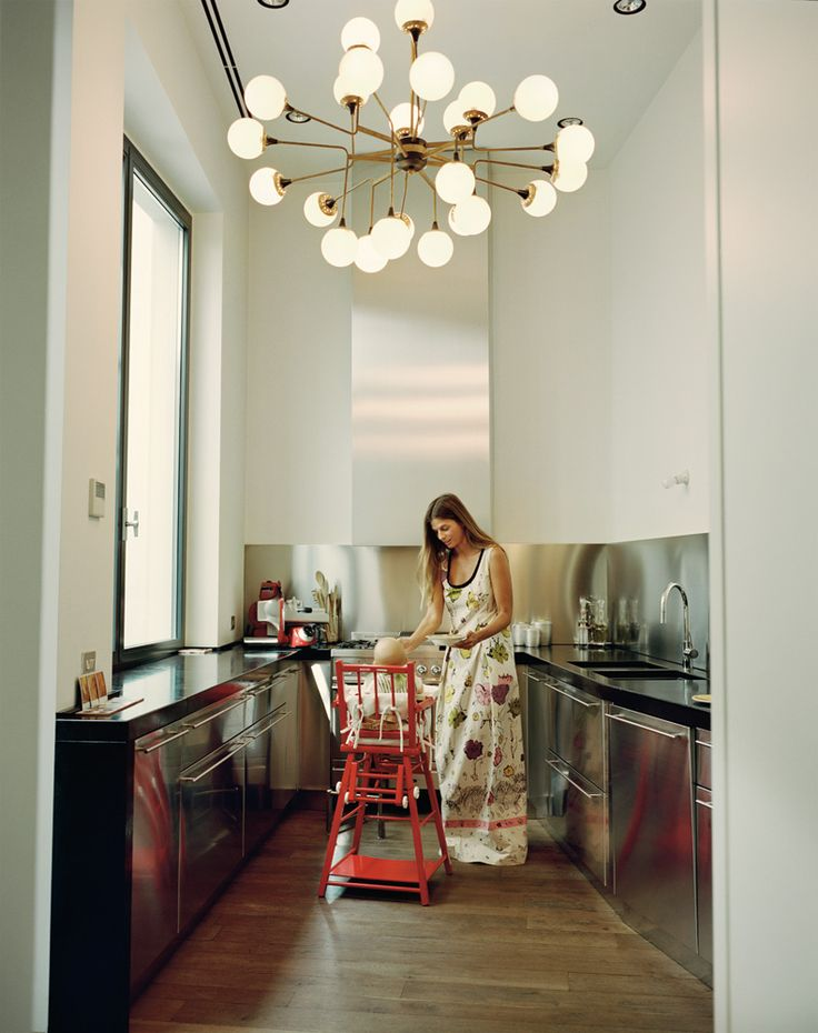 That light fixture! Modern kitchen design. Carolina Castiglioni - Interactive Feature -