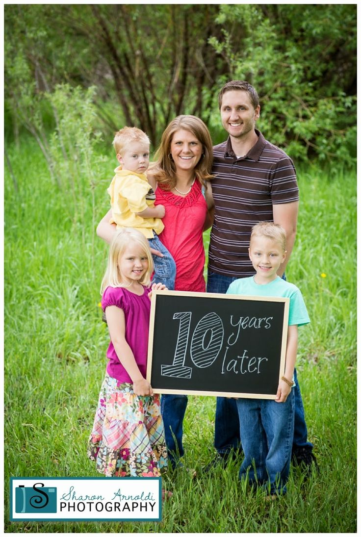 Love the 10 years later photos!  It's amazing how a family can grow in ten years!  Photos by Sharon, www.sharonsphoto.com: Highlands Ranch Colorado Photographer