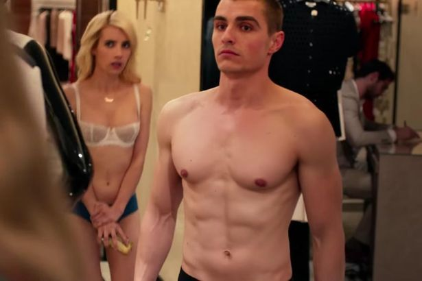 WATCHTOWEREmma Roberts and Dave Franco Strip Down to Their Underwear for Action-Packed Nerve Trailer When youre casually standing in your underwear with Dave Franco (yes Emma Roberts)Dave Franco in Nerve (YouTube) We dare you to watch this movie trailer and not get totally sucked in. Emma Roberts and Dave Franco have teamed up to give fans a daring and action-packed film that pretty much illustrates Hunger Games theories in the modern age. Let us explain The actress 25 and actor 30 both…