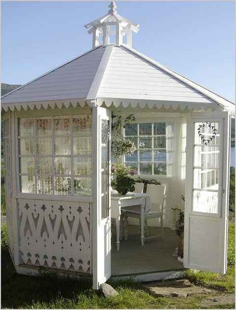 134 best images about gorgeous gazebos on pinterest for Victorian garden shed designs